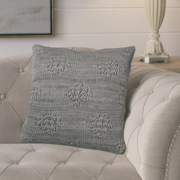 Carmine Knit 100% Cotton Throw Pillow by Gracie Oaks